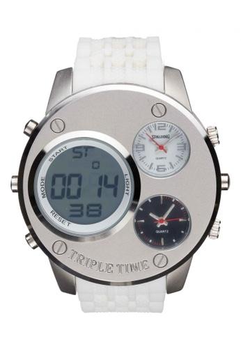 Spalding white Timepiece SP-056 Watch EFA6AAC7B37C5BGS_1