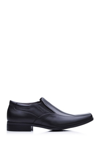 BONIA black Men Black Short Brogue Shoes 8AE86SH1F64D76GS_1