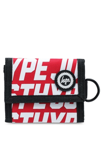 Just Hype red JH Sports Wallet 4A8D5AC782249EGS_1