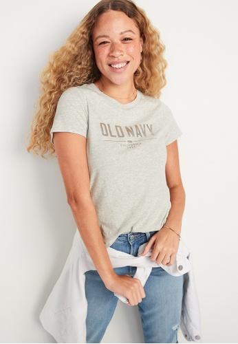 Old Navy grey EveryWear Logo-Graphic Tee 52DD6AAEC89575GS_1