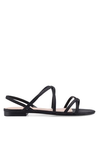 Mango black Metallic Strap Sandals 6BF15SHC8F3D20GS_1