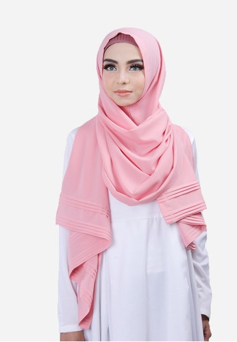 Cantik Kerudung pink Khloe Pleated Shawl CA574AA0V79FID_1