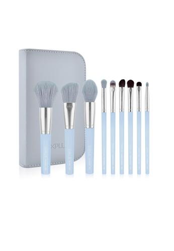 SIXPLUS blue SIXPLUS 9pcs Blue Makeup Brush Set - Inspiration Series 41A1BBEF32DF3DGS_1