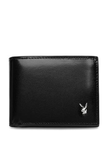 Playboy black Men's Bi Fold Wallet 7D623ACE1CA00AGS_1