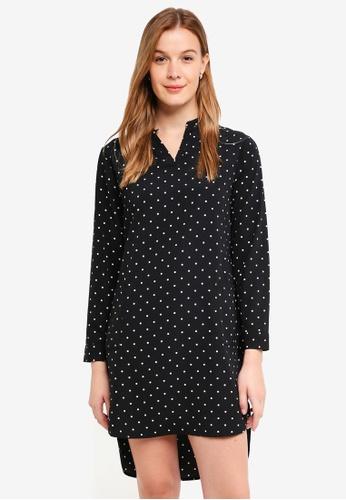 ZALORA BASICS black Shirt Dress With Pocket D7634AA83D50DDGS_1