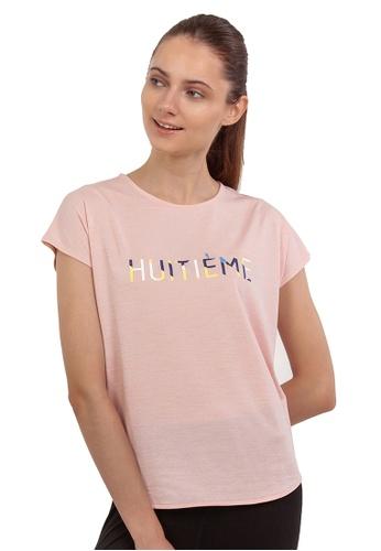 Huitieme pink HUITIÈME SIGNATURE GRAPHIC PINK TEE. 40BBCAA1470B5AGS_1