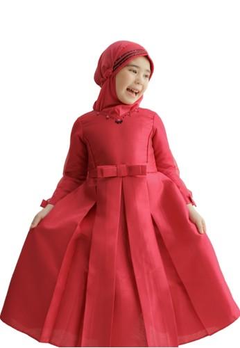 Pretty Girl Collection pink Shamawa Muslim Dress E1A96KAD3A397FGS_1