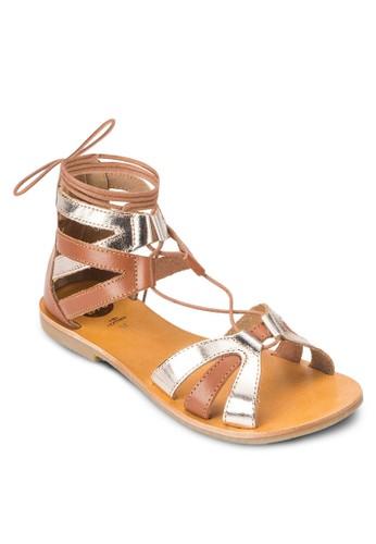 Saulieu 雙色羅馬涼鞋, 女鞋esprit outlet hong kong, 鞋