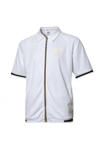 puma white Clutch Shooting Short Sleeve Men's Shirt C3C68AA9564BF2GS_1