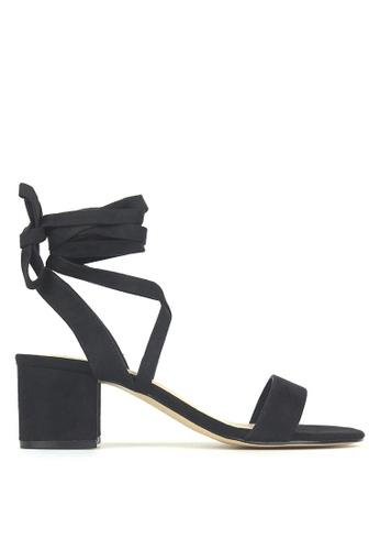 Betts black Chyna Lace-Up Block Heel Sandals 41077SHB58BB62GS_1