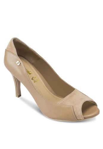 ABIGAIL esprit outlet 台中露趾尖頭高跟鞋, 女鞋, 魚口鞋