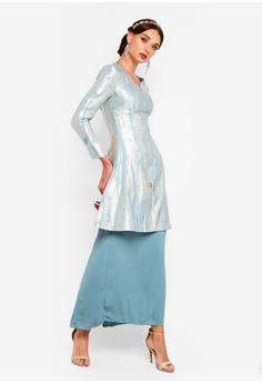 fdb869ca892 35% OFF Zalia Abstract Jaquard Fit And Flare Tunic Set RM 339.00 NOW RM  219.90 Sizes XS S M L XL
