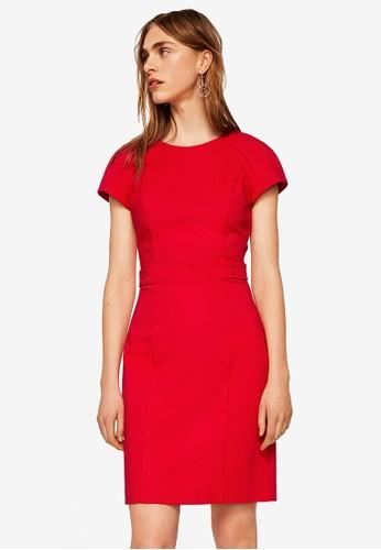 Mango red Metallic Appliqué Cotton Dress CA6A2AAFD89D10GS_1