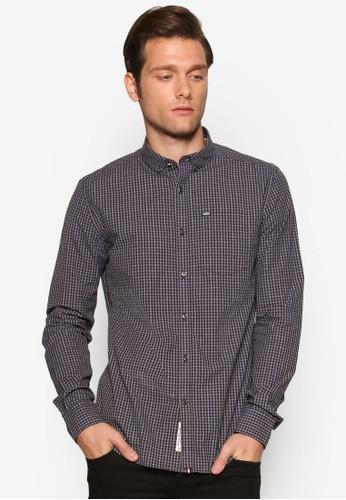 格紋長袖esprit retail襯衫, 服飾, 襯衫