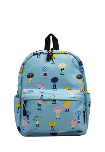 Wanderlust blue and multi Wanderlust Backpack Puddle 948E5KC3AC8B24GS_1