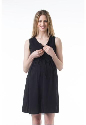 Bove by Spring Maternity black Woven Sleeveless Agatha Dress Black IDN6402 BO010AA0FKW3SG_1