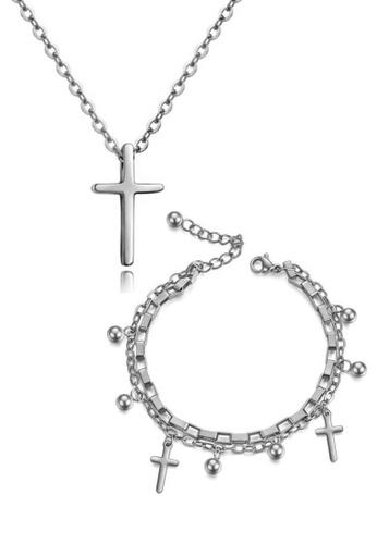 CELOVIS silver CELOVIS - Krissy Necklace Paired with Genesis Bracelet Jewellery Set in Silver 3D16FACCDCCFBDGS_1