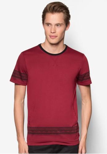 民族風條紋短袖京站 esprit上衣, 服飾, T恤