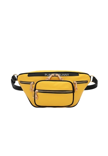 PLAYBOY BUNNY yellow Zip Overload Waist Bag 0E555ACA80A3F3GS_1