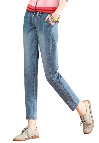 A-IN GIRLS blue Elasticated Straight Jeans E00E5AA2BE9412GS_1