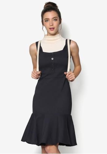 彈性荷葉邊肩帶連身裙, esprit tsim sha tsui韓系時尚, 梳妝