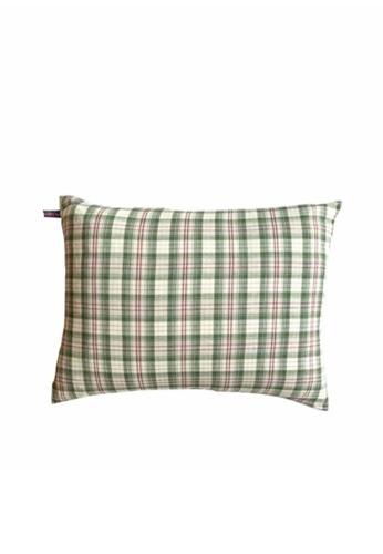 Stylodeco Cushion Cover, Green Checks 5F5EAHLB1B2C08GS_1