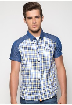 Button Down Cut and Sew Shirt