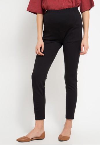 ELSY'S black Celana Panjang Bahan Kaos Perut Kantong 2 EL744AA0VPX3ID_1
