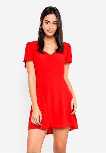 Miss Selfridge red Red Skater Dress A21ECAA0A4E422GS_1