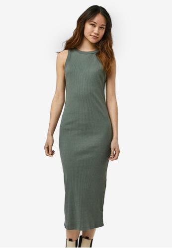 Vero Moda green Tight Midi Dress AE22EAABAF3377GS_1