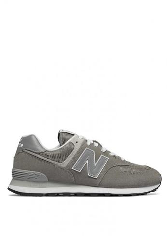 New Balance grey New Balance Men's Sneakers 574 C38F5SHB00665AGS_1