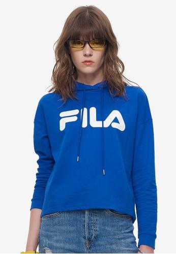 Fila blue Logo Hoodies 2EAA6AA95487E1GS_1