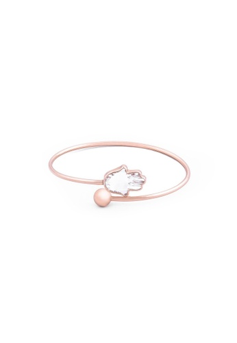 RAM Jewelry red Vanessa Hamsa Bangle - Rose Gold RA226AC18CXTPH_1