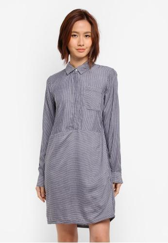 WAREHOUSE blue Stripe Shirt Dress F6AE2AA549C2DCGS_1
