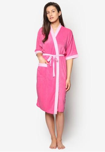 Rose Pink/Light Pink esprit 評價Swim Robe, 服飾, 泳褲及沙灘造型