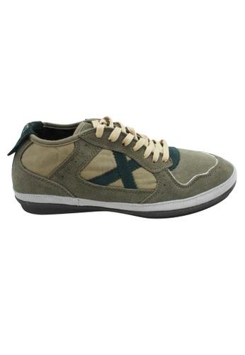 midzone green Suede Leather Sneaker MI949SH63XEQMY_1
