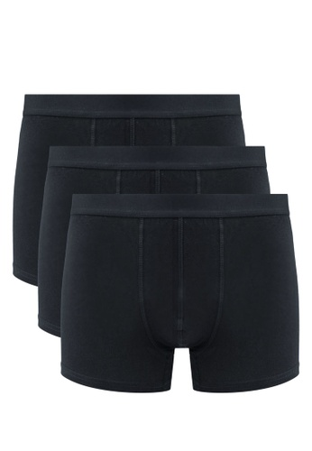 OVS black Cotton Boxer ( Pack Of 3 ) ADE44USE113217GS_1