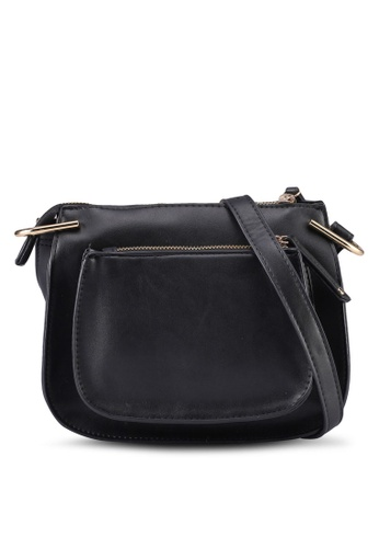 Dorothy Perkins black Black Mini Saddle Crossbody 8DD0FAC9E84219GS_1