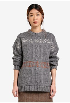 Image of Bohemian Cable Knit Pullover