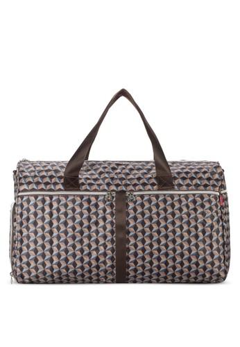 Weekend esprit門市折疊式印花旅行袋, 包, 旅行袋