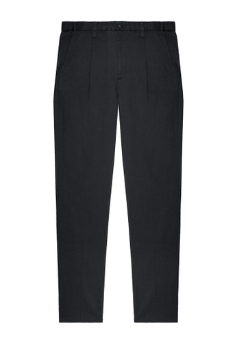 Kent and Curwen black Black Cotton Pants 202F8AAC7B4F2EGS_1
