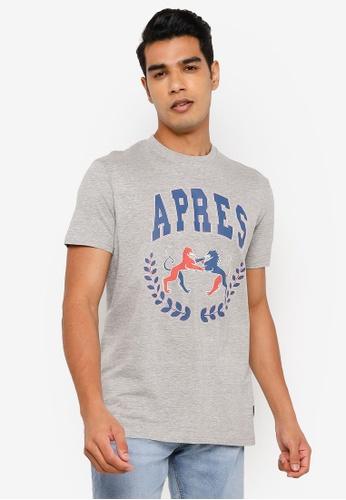 Springfield grey Varsity T-Shirt FAC70AA1E38313GS_1
