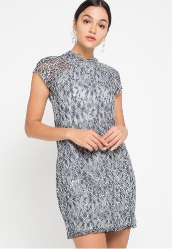 CHANIRA LA PAREZZA grey and silver Hansa Dress C6341AA8013DDDGS_1