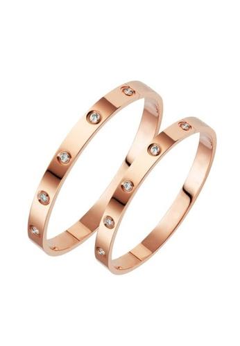 CELOVIS gold CELOVIS - Wanderlust Couple Bangle Jewellery Set C2E29AC7E82AE8GS_1