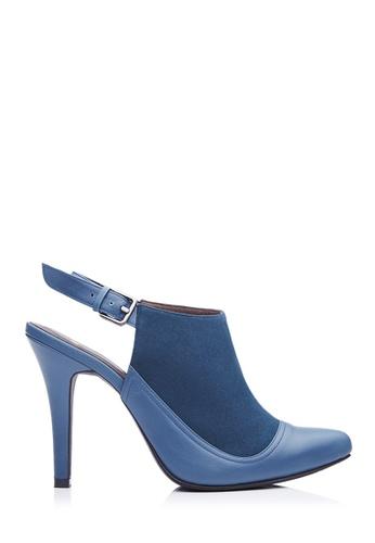 BONIA blue Women Dark Turquoise Suede & Leather Mule Heels 5B876SHF98438FGS_1