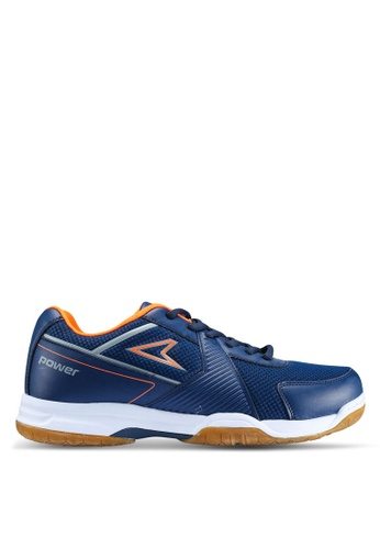 Power blue and navy Athletic Badminton Shoes 0B2F0SH57D2A05GS_1