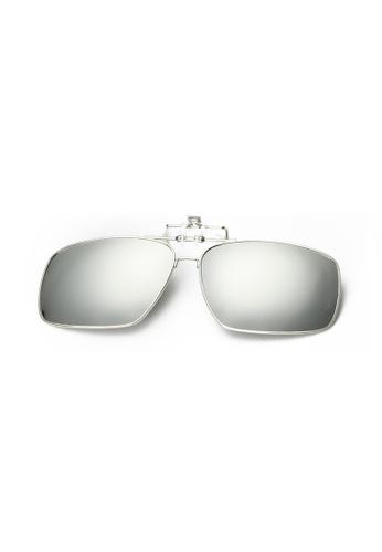 A FRENZ silver Full Rim Polarized UV400 Flip-Up Large Clip On Sunglasses E693DGLA288BD2GS_1