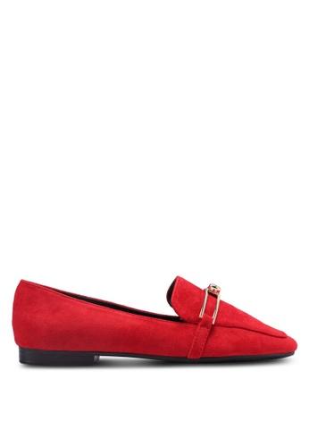 Something Borrowed red Slip On Loafer Flats 7CB6DSH4AC1DA6GS_1
