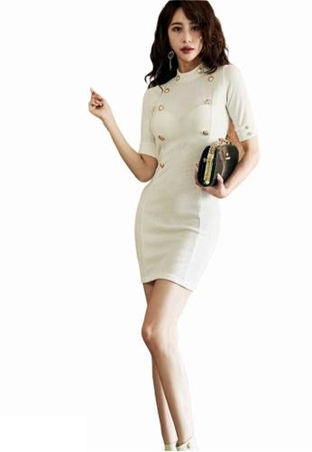 Crystal Korea Fashion white Korean-made new slim party dress A397EAA5F3FBECGS_1