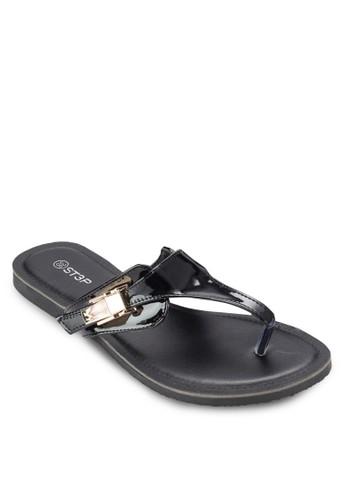 金屬飾夾腳涼鞋, 女esprit taiwan鞋, 鞋